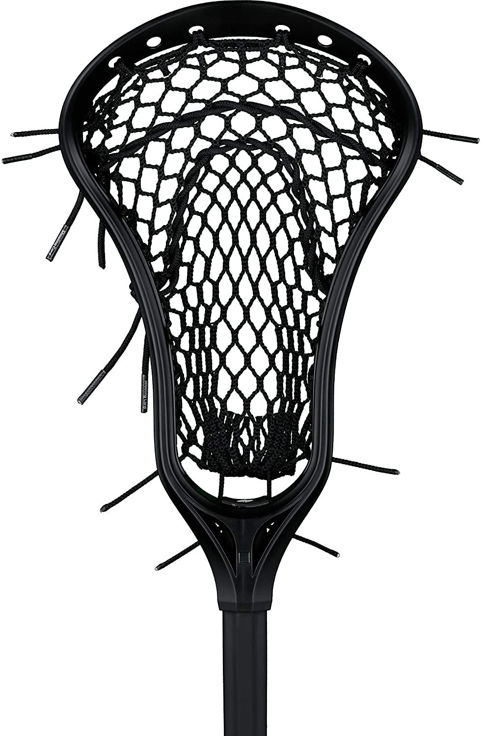 StringKing Girl's Complete Junior Youth Lacrosse Stick with Alloy Shaft and Women's Type 4 Mesh (Assorted Colors)